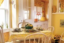 Cozy Country Kitchens / Inviting kitchens you would love to sit and have your coffee with a friend❤️ / by Vickie Benedict