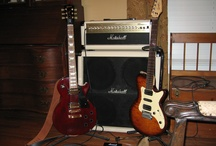 My Guitars / When the mood hits me, this is what I choose to pick up and play, and attempt to sound like the song. I truly need to focus more! Dogs howl at me. My own dog would run away! / by Chet Calhoun Jr
