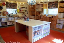 craft / sewing room  / ideas for my dream craft/sewing room / by Karin Maltese