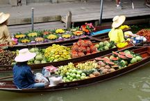 Floating Markets, Bangkok and Thailand / Thailand's amazing floating markets are probably the most colourful and entertaining markets in the world. Tickets for tours and activities available at Island Info, inside Ark Bar Beach Resort https://www.facebook.com/IslandInfoThailand / by Island Info Samui