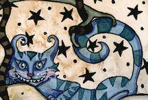Cheshire Cat / Le chat de Cheshire ! / by Claudine Desjardins