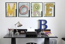 Ideas para el espacio de trabajo/ Workspace ideas / by Vero Malanga