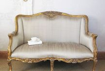 Recovering Vintage Settee Ideas / by Christi Wilson