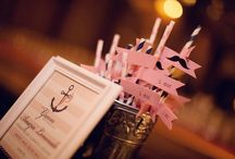 Nautical + Navy Blue + shades of Pink / by Embellishmint Floral + Event Design Studio