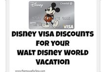 Disney Visa Card Discounts / Discounts available to Disney Visa Cardholders / by The Magic For Less Travel - Specializing in Disney and Universal Vacations