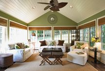 Beach House Rec Room / Ideas for my new rec room! It must have a beach house/cottage, light, airy feeling to it. / by Carla Rolfe