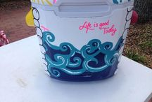 COOLERS / Ideas for cooler crafting!!  / by Mallory Gray