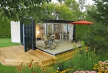Container Architecture / Shipping containers - what are you inspired to do with them? Would you live in one? Have you seen a cool container home? Post it here!  / by Heather Truhan