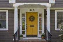 Siding / Front door / by Rebekah Allebach