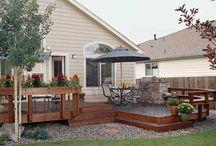deck ideas/backyard / by Carrie J