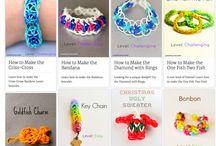 Rainbow Loom Bracelets / tutorials for rainbow loom bracelet! / by Hannah Sulkowski