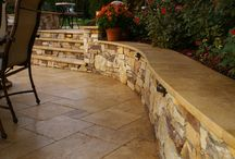 Retaining walls and patio / by Lynette Ray