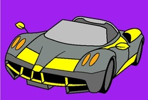 Cool Cars, Trucks & Motorcycles! / Color cool Cars, Sportscars, trucks, motorcycles and other vehicles! / by Online Coloring