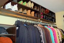 closet organizing / by Raeann Wiley