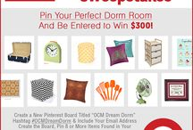 """OCM Dream Dorm with OCM Contest / Enter to win $300 to OCM.com by creating your very own dream dorm board! All you have to do is make a new board titled """"OCM Dream Dorm"""" and pin 5-8 items that you would love to have in your dream dorm room. Make sure you use hashtag #OCMDreamDorm on every item! Don't forget to add your name and email address in the description of your board so that we may contact you if you're the winner!  Make sure you REPIN this image to your board!  / by OCM On Campus"""