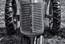 Tractors / Just smile and wave, then tip your hat to the man up on the tractor / by Mary Bucher