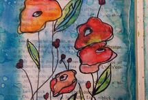 Art Journal Pages & Inspiration / Inspiration for art journaling, #art journal, #art journaling, #visual journal, #visual journaling, / by Cheryl Cope