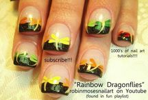 """robin moses nail art videos / new videos up every mon, wed and friday! please say """"inspired by robin moses"""" if you copy! with each photo there is a link to the tutorial! my love to you! / by Robin Moses"""