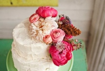 Flowers on the Cake / wedding cakes adorned with flowers we are looking at the flowers more than the cakes / by Dandie Andie Floral Designs