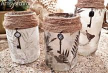Bottle and jar crafts / by Lisa Fischer