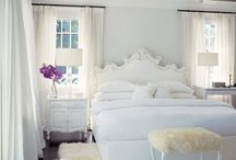 white bedroom / by Beth Mitchell