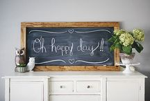 Chalkboard Love / Chalkboards are all the rage these days!  These are some of my faves!  / by Allison (The Golden Sycamore)