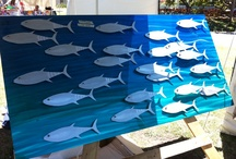 Outdoor Art Installation / Beach, water, sand, sun, summer, bach, nz, sea, fishing, family, movement,  / by Deb Filmer