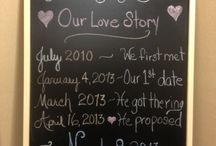 "Chalkboard / ""Our Love Story"" / by Lois Williams Bunch"