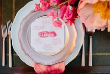 Ciao Bella Tablescapes / Tablescapes, glassware, flatware, design, decor, details. Reception time / dinner & dancing  / by Ciao Bella Weddings