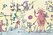 Artist Spotlight: Sir Quentin Blake / Quentin Blake is one of Britain's best-loved and most successful illustrators and children's authors. Showing at the Foundling Museum (12 January - 15 April 2012), 'Quentin Blake - As large as life' presents over 60 recent works that Blake created for four hospitals in the UK and France, which were designed to have an improving effect on patients, visitors and staff. A selection are included here as well as other Quentin Blake works. / by Artfinder