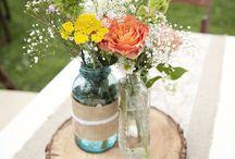 Flower arrangements / public / by Myra Corbin