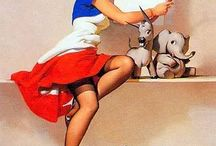 vintage pin-ups! / by Krista Ford