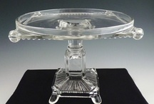 A'tiques V'tage Cake Plates, Sweet Meats & Castors / cake plates, cake stands, pedestals, candy dish, candy plates, sweet meat server / by Karen Chapman