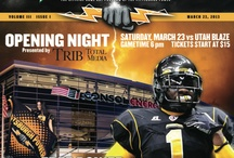 2013 Game Program Covers / by Pittsburgh Power