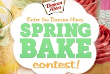 Spring Bake 2013 / Enter our Spring Bake contest for a chance to join winners from previous blogger giveaways at the Duncan Hines test kitchen, meet and eat with our staff, go behind the scenes with our production team & snag a sneak peak at secret Fall flavors.  / by Duncan Hines