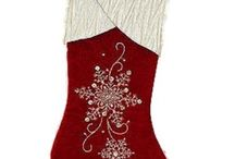 Red Velvet Christmas Stockings / The best things about velvet Christmas stocking is because the material is so soft when you touch it and it looks luxury. The red, of course, because Christmas is not perfect without red. Santa wore red, didn't he? / by fel7.com