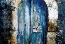 """DoOr LoVe / """"The doors we open and close each day decide the lives we live."""" Flora Whittemore / by Angela Street"""