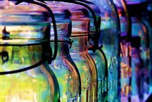 Mason Jars!! / I would have never thought in a million years that I would have a purpose for those cases of canning jars in my attic!! / by Jacque Winger