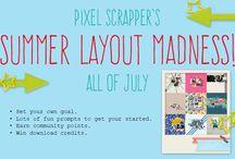 Pixel Scrapper Layout Challenges / by Amara Van Lente