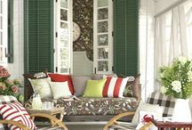 sunroom porch ideas / by Tiffany Melius