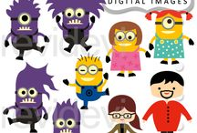 Minion inspired cliparts, prinables and party ideas / by Mygrafico Digitals