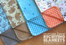 baby flannel blankets and tags / by Gina Helmly