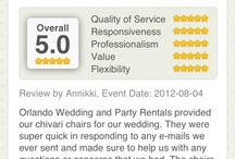 Reviews / by Orlando Wedding & Party Rentals