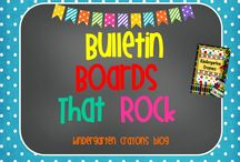 Bulletin Boards That Rock / Here are my favorite bulletin boards to keep me inspired to display student work. / by Kindergarten Crayons