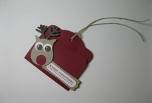SU CHRISTMAS TAGS ~ Ornaments ~ Bags / Christmas ideas featuring Stampin' Up products... / by Rebecca I-f