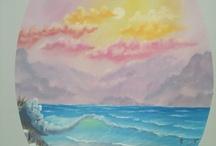 Bob Ross style painting. R.I.P Bob! / by Robin Jordan