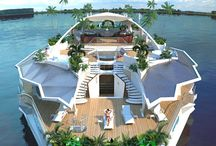 MEGA YACHTS AND FLOATING HOMES OF THE SUPER RICH / LIVING AND LOVING YACHTS AND WATER / by JANICE COOMES