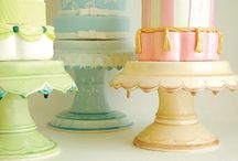 cake stands / by Missy Valderrama