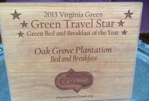 Going Green / How we are protecting our planet with such green features as solar panels, recycling, rain barrels, etc. / by Oak Grove Plantation Bed & Breakfast