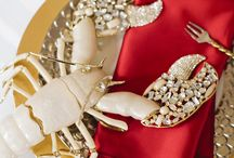Lobster Love / Leah, Lisa and Lola the Lobsters.  Kara Ross' new tabletop collection. / by Kara Ross New York